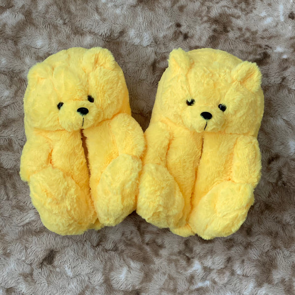 Yellow Teddy Bear Slippers
