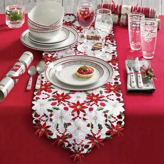 Eve Embroidered Table Runner