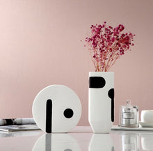 Monsoon Monochrome Abstract Vases