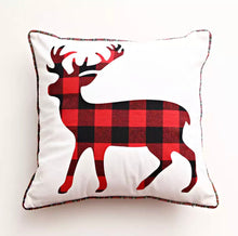 Checked Deer Cushion Cover