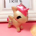 Porte-Clés Licorne Kawaii Rose Or