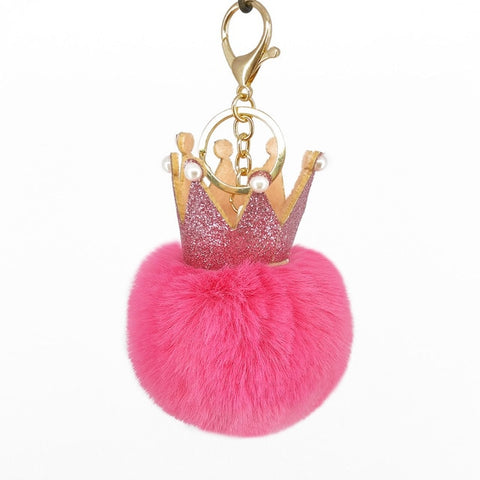 Porte-Clés Pompon Queen Rose