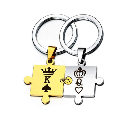 Porte-Clés Couple King & Queen Puzzle