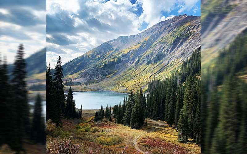 Valley and lake in Crested Butte, Colorado, USA