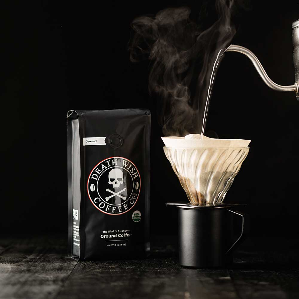An image of coffee being poured.