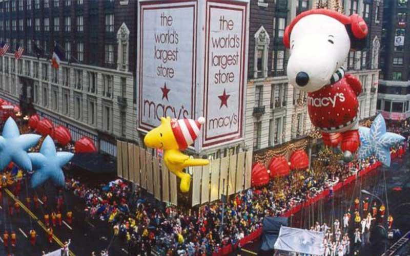Floats at the Macy's Thanksgiving Day Parade