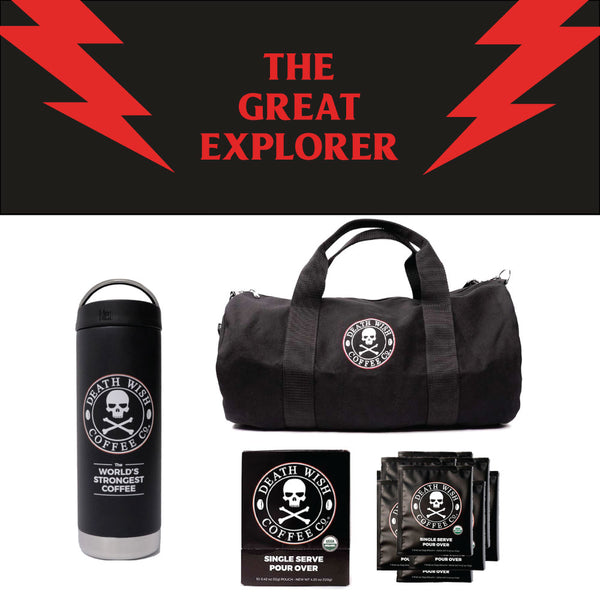 The Great Explorer Death Wish gift bundle