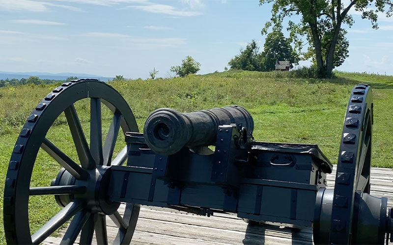 Colonial cannon on the Saratoga Battlefield
