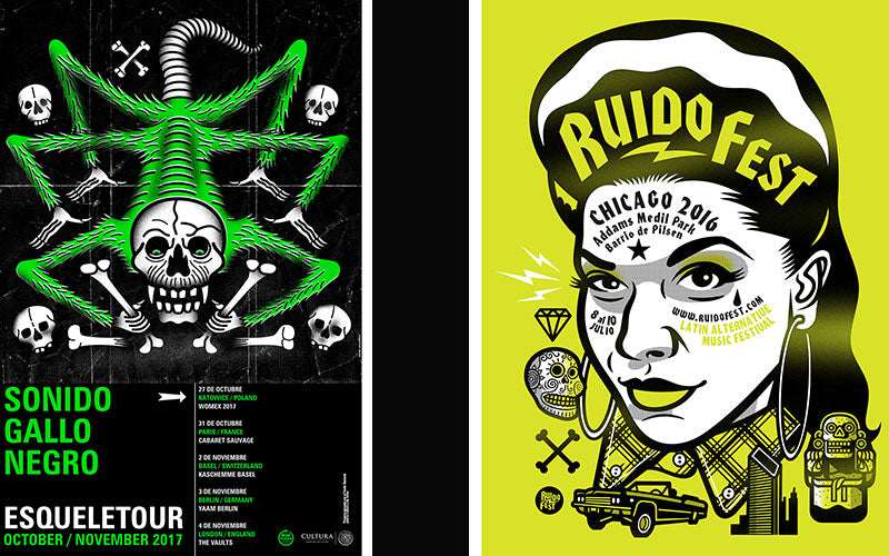 Posters illustrated by Jorge Alderete