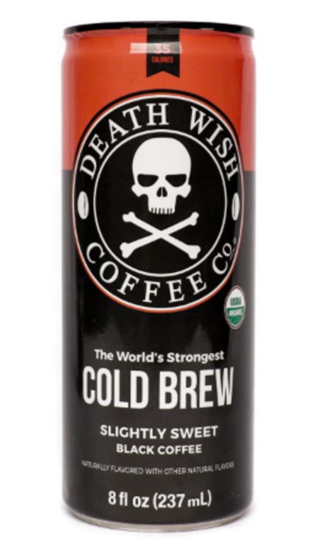 deathwish coffee cold brew lightly sweetened