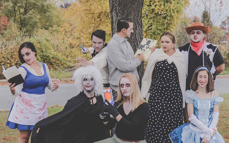Members of the Death Wish Coffee team dress up as dead Disney Characters for Halloween