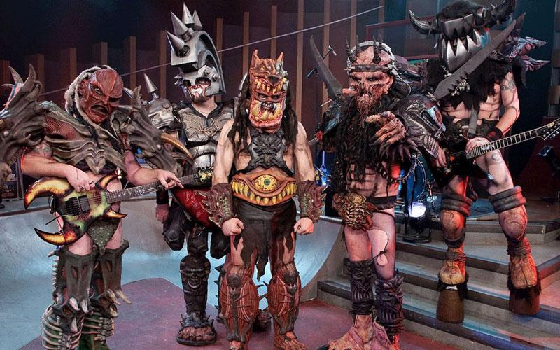 A group photo of the heavy metal band GWAR