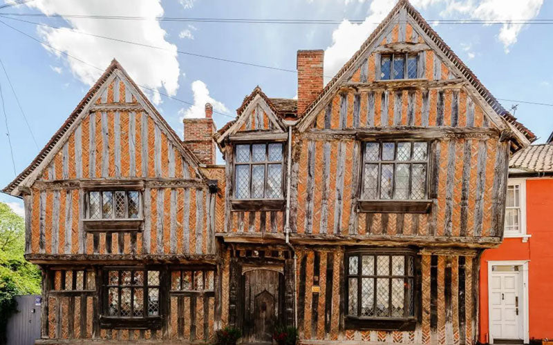 An old English tudor house in England that served as the house for Harry Potter in the Harry Potter movie series