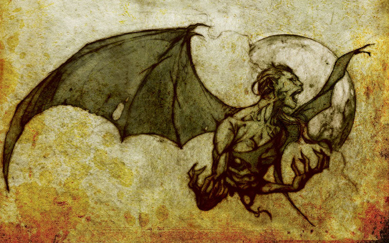 Illustration of a vampire transforming into a bat