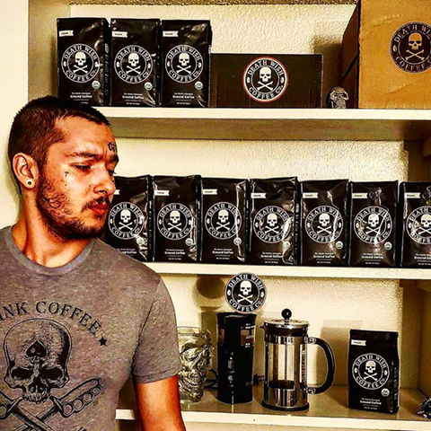 Man with Death Wish Coffee