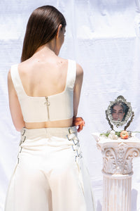 Tropez Raw Silk Cropped Bodice