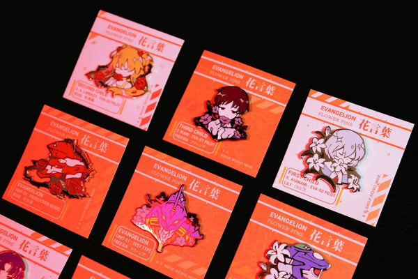 Evangelion Enamel Pin Set [Backordered]