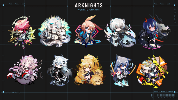 Arknights Charms - Lappland
