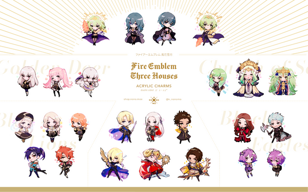 Fire Emblem 3 Heroes Charms - Black Eagles