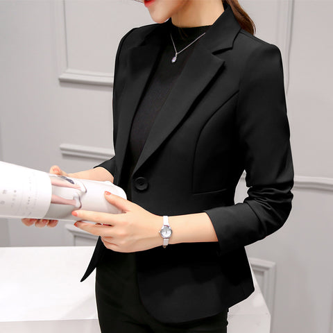Black Women Blazer 2019 Formal Blazers Lady Office Work Suit Pockets Jackets Coat Slim Black Women Blazer Femme Jackets -  amazon-usa 2020