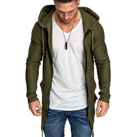 Shujin New Mens Hooded Solid Trench Coat Jacket Cardigan Long Sleeve Outwear Male Autumn Winter Slim Fit Long Coat Tops -  amazon-usa 2020