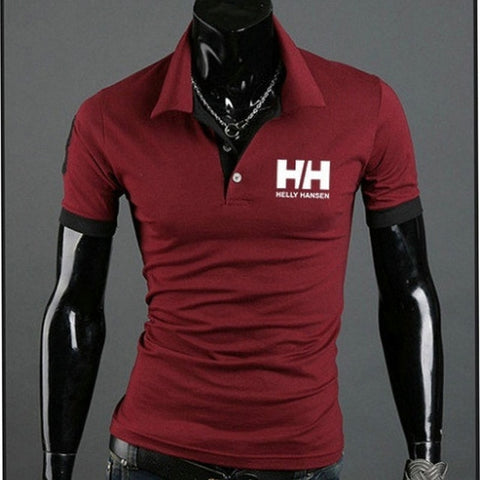 Summer Polo shirts men Clothes 2019 Letter Print Men Polo Shirts Men Solid Short Sleeve Polo Casual Slim Tops Tees new arrival -  amazon-usa 2020