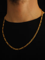 Load image into Gallery viewer, FIGARO CHAIN 14CT SOLID GOLD