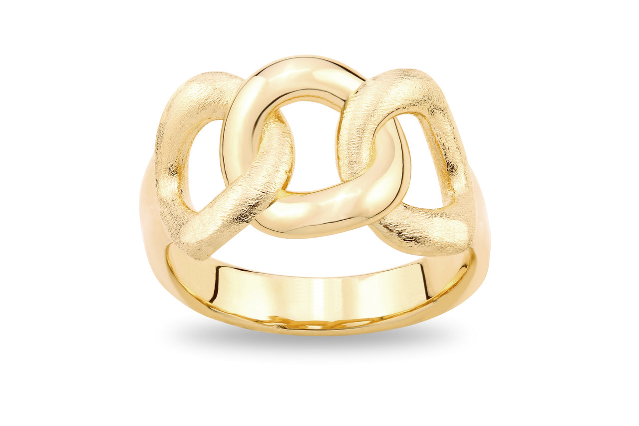 GOLD CURB RING