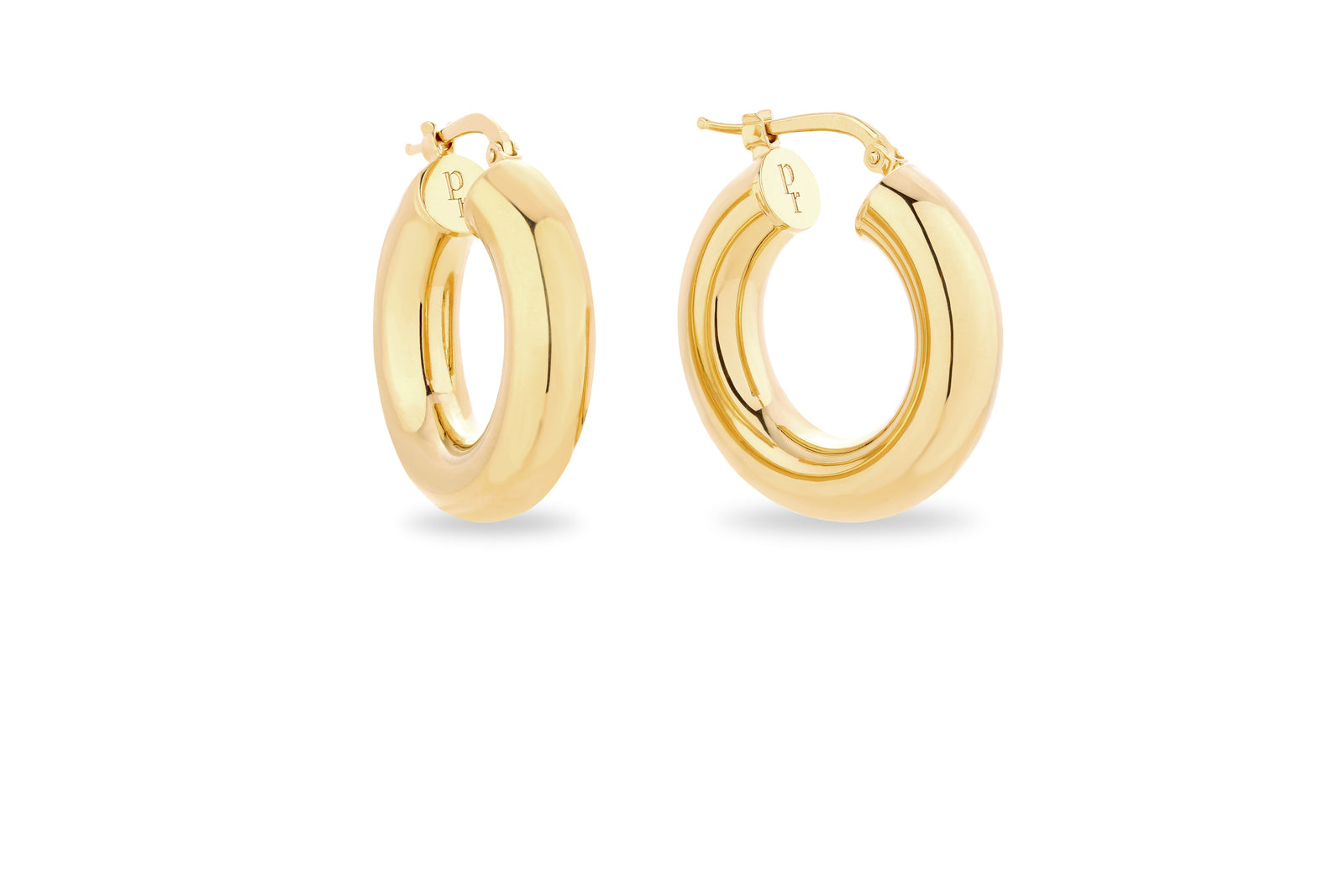 GOLD CHUNKY HOOP EARRINGS • XS