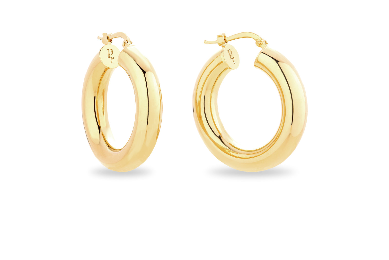 GOLD CHUNKY HOOP EARRINGS • S