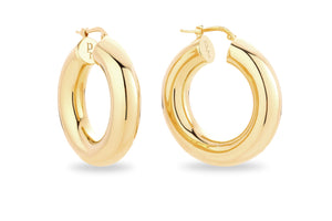 GOLD CHUNKY HOOP EARRINGS • M