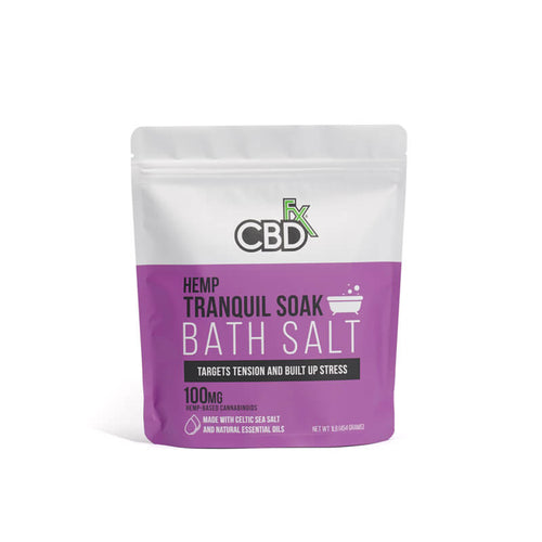 CBD Bath Salt - Tranquil 100mg | CBDfx Bath Soak | Best Feeling