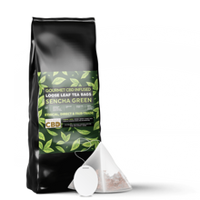 Load image into Gallery viewer, Green tea infused with CBD | CBD tea Bags | Shop CBD tea online in the UK store