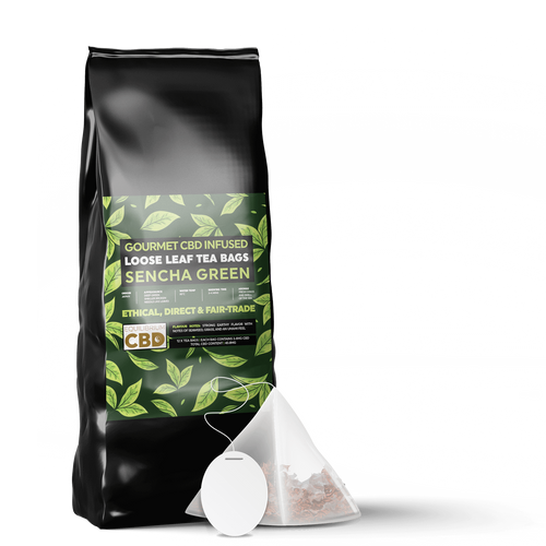 Green tea infused with CBD | CBD tea Bags | Shop CBD tea online in the UK store