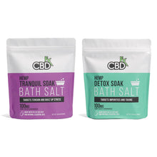 Load image into Gallery viewer, CBD Bath Salt - Detox Soak 100mg | CBDfx Bath Soak | Best Feeling