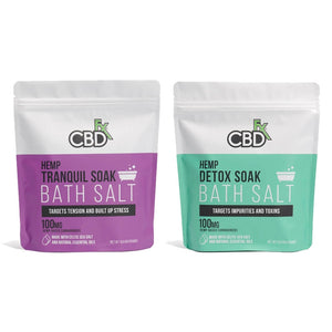 CBD Bath Salt - Detox Soak 100mg | CBDfx Bath Soak | Best Feeling