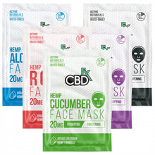 Load image into Gallery viewer, CBD Face Mask Bundle set - 5 | CBDfx | Best Feeling CBD | Hemp Face Masks