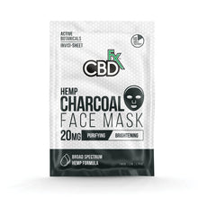 Load image into Gallery viewer, Charcoal Face Mask | CBDfx Hemp 20mg Face Mask