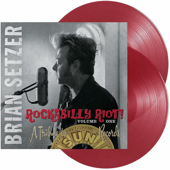 BRIAN SETZER Rockabilly Riot! Volume One - A Tribute To Sun Records 2LP SET Red Vinyl
