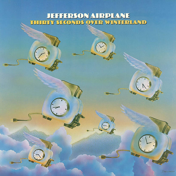 JEFFERSON AIRPLANE Thirty Seconds Over Winterland LP Blue Vinyl