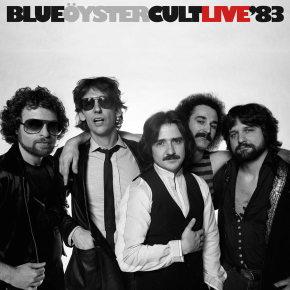 BLUE OYSTER CULT Live '83  2LP Blue with Black Swirl