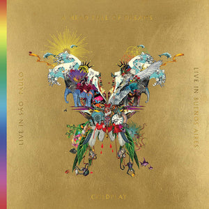 COLDPLAY Live In Buenos Aires / Live In São Paulo / A Head Full Of Dreams 3LP GOLD VINYL + 2dvd