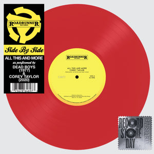 "COREY TAYLOR / DEAD BOYS Black Friday - All This And More 12"" Red Vinyl / PVC Sleeve"