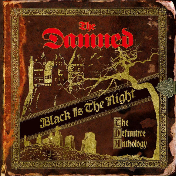 DAMNED Black Is the Night: The Definitive 4LP gold vinyl boxset