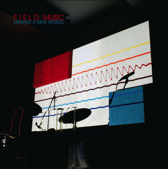 FIELD MUSIC Making a New World LP Transparent 180g red vinyl with signed print