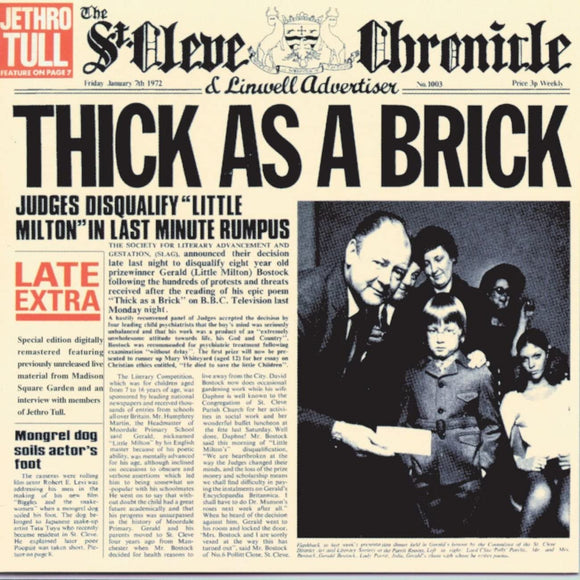 JETHRO TULL Thick as a Brick 2LP