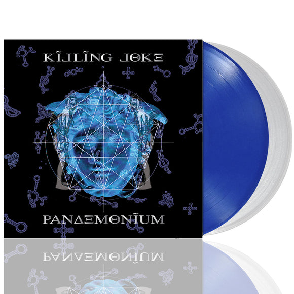 KILLING JOKE Pandemonium 	2LP SET 	limited edition transparent blue/ultra clear vinyl