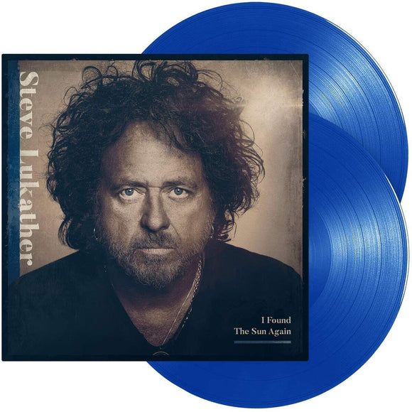 STEVE LUKATHER I Found The Sun Again 2LP SET Blue Transparent Vinyl