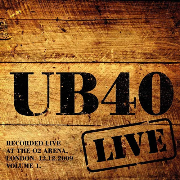 UB40 Live At The O2 Arena London 12/12/09 Volume 1 2LP Clear Vinyl