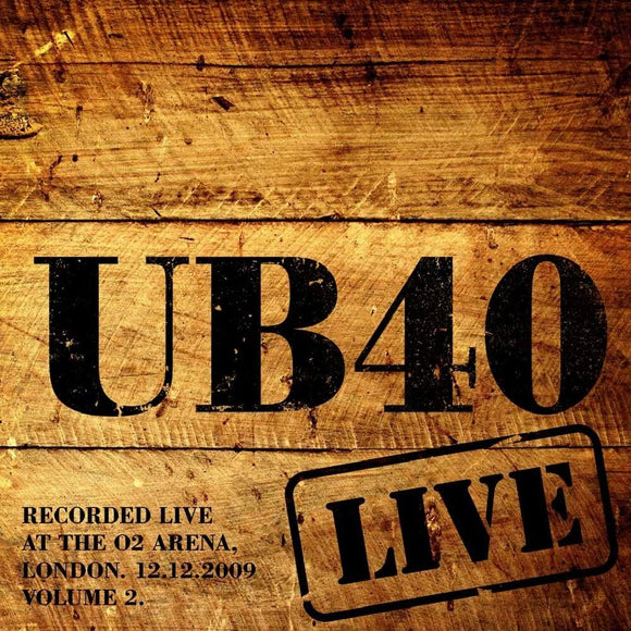 UB40 Live At The O2 Arena London 12/12/09 Volume 2 2LP Red Vinyl